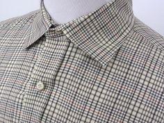 Harold Powell check plaid cotton shirt dress casual button front shirt size XL #HaroldPowell #ButtonFront