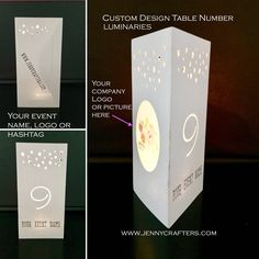 Excited to share the latest addition to my #etsy shop: CUSTOM Table Number LUMINARIES • Events • Prom • Parties • Company Event • Wedding • Rehearsal Dinner • Party Décor • Centerpieces http://etsy.me/2CCSC5G #papergoods #tablenumbers #customcompanyparty