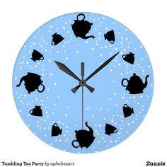 Tea party de caída relógios de pendurar