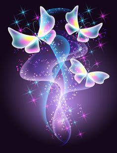 "Photo from album ""Абстрактные фоны"" on Yandex. Purple Butterfly Wallpaper, Neon Wallpaper, Heart Wallpaper, Cute Wallpaper Backgrounds, Pretty Wallpapers, Butterfly Art, Colorful Wallpaper, Flower Wallpaper, Butterflies"