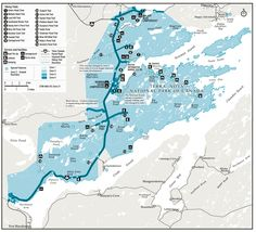 Map of Terra Nova National Park of Canada East Coast Canada, National Parks Map, Parks Canada, Newfoundland And Labrador, Largest Countries, Pond, North America, Road Trip, Management