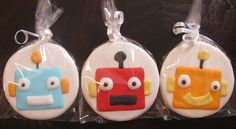 Robot cookies by CenterStageSweets, via Flickr