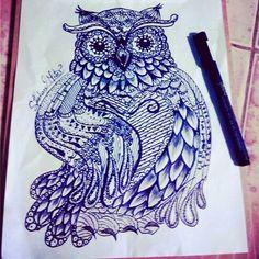 Drawing buho