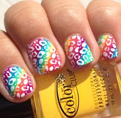 Rin's Nail Files: Rainbow Cheetah..........