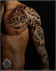 Tribal chest and sleeve.