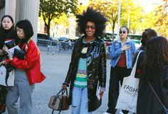 Julia Sarr-Jamois with a Gucci bag