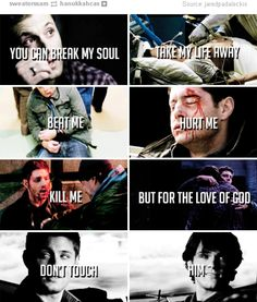 """""""For the love of god, don't touch my Sammy..."""" #WinchestersBrothers  #Supernatural"""