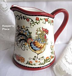 Yankee Candle FRENCH COUNTRY ROOSTER Floral Tea Light Holder Retired NEW #YankeeCandle