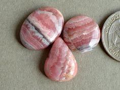 3 Pcs Pink Rhodochrosite Stone,Rhodochrosite Cabochon Gemstone,Handmade Gemstone,Rhodochrosite Finding,Loose Gemstone#11708 by dhorgems on Etsy