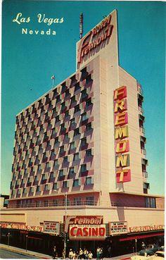 Vintage Las Vegas - old postcard of the Fremont Hotel and Casino on, yep, Fremont Street.