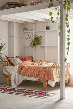 Perfectly boho bed crafted from rattan in a versatile look we love. Complete with a slatted bed base, this piece is built to last with natural wood.
