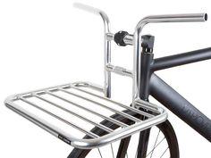 The beautifully finished chrome front rack is now available on its own. Bicycle Tools, Urban Bike, Brick Lane, Cargo Bike, Touring Bike, Bike Parts, Bike Accessories, Bike Design, Custom Bikes