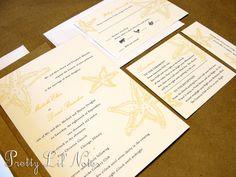 Romantic Beach Custom Color Wedding Invitation by PrEttYLiLNoTeS