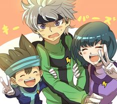 Tags: Anime, Nishizono Shinsuke, Inazuma Eleven GO, Sorano Aoi, Shinsei Inazuma Japan Uniform, Ibuki Munemasa, Inazuma Eleven GO Galaxy