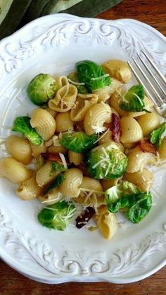 Pasta with Bacon and Brussel Sprouts