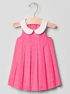 Contrast-collar dot dress | Gap 18-24m