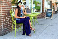 <Stripes and Slits> on www.missminussized.com with @designhistory #maxidress #stripes #casual #slits