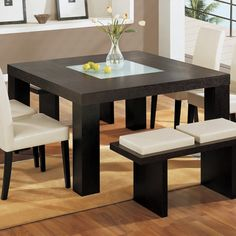 Contemporary Dining Set With Bench - Dining room ideas