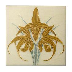AN046 Art Nouveau Reproduction Antique Tile