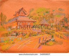 Stock Images similar to ID 270540776 - sketch of old man walking...