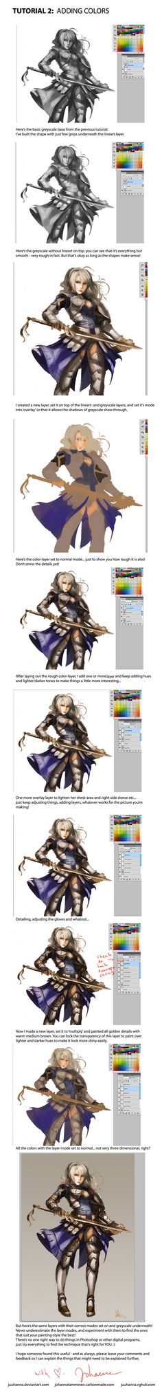 TUTORIAL 2: Adding Colors by juuhanna on DeviantArt