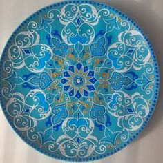 Painted Ceramics, Ceramic Painting, Circle Art, Plant Drawing, Henna Art, Garden Crafts, Simple Shapes, Mandala Design, Rock Art