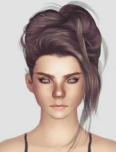 NewSea`s Crazy Love hairstyle retextured by Momo for Sims 4 - Sims Hairs - http://simshairs.com/newseas-crazy-love-hairstyle-retextured-by-momo/
