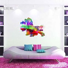 kcik2148 Full Color Wall decal Watercolor Character Disney