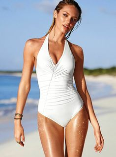 Classic bombshell look. One-pieces are the new bikinis! // Secret by Victoria's Secret Swim