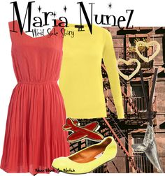 Inspired by Natalie Wood as Maria Nunez in the 1961 musical film adaptation of  West Side Story.