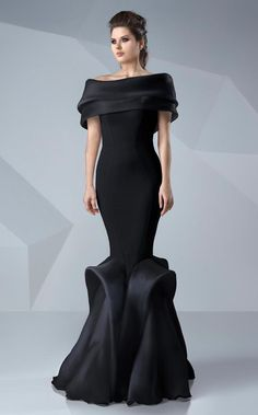 MNM Couture - Sleek Off-Shoulder Mermaid Dress in Black Mermaid Dresses, Mermaid Gown, Mermaid Skirt, Off Shoulder Mermaid Dress, Couture Dresses, Fashion Dresses, Evening Dresses, Prom Dresses, Gowns Of Elegance