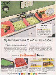 1953 Rubbermaid Ad by American Vintage Home, via Flickr