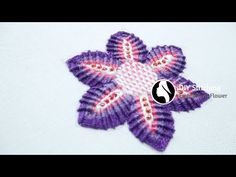 How to Stitch a Embroidery Flower Using 3 Different Hand Embroidery Stitches # 24 - YouTube