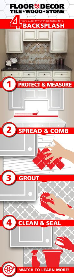Time for a kitchen upgrade? Here are our quick & easy steps for a DIY Backsplash Install!