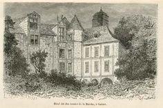 """Hôtel dit des comtes de la Marche à  Guéret,  """"Géographie du département de la Haute-Vienne"""",1887 - Bfm Limoges  http://www.bn-limousin.fr/"""