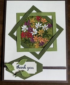 Use Stampin up dies for squares? Fancy Fold Cards, Folded Cards, Making Greeting Cards, Greeting Cards Handmade, Stamping Up Cards, Card Making Techniques, Handmade Birthday Cards, Card Sketches, Paper Cards