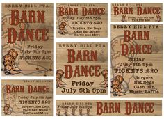 Barn Dance - Published PTA Templates and Poster Kits