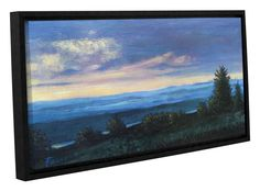 Hillside by Gene Foust Floater Framed Painting Print on Wrapped Canvas