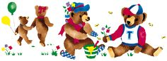 Quickly and easily add a fun design to your child's nursery or play room with our Teddy Bear Picnic Painting Stencil!