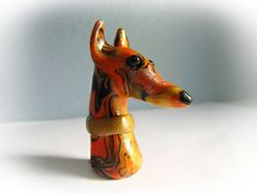 Greyhound Whippet Galgo Sculpture Figurine by GreyhoundCleyhounds