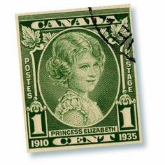 Canadian 1 cent stamp.
