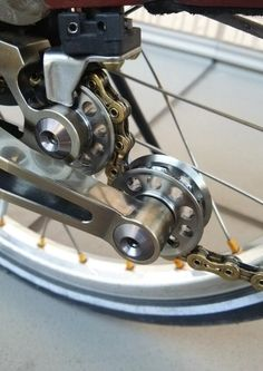 Bikefun chain tensioner + Ti parts work shop Pully wheels