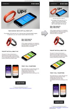 Responsive Email Design from Jawbone