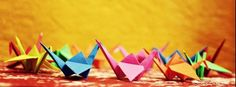 origami paper birds colorful cool facebook timeline covers