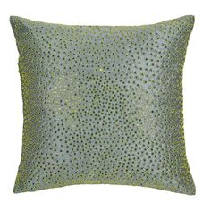Great for chairs! - This cushion cover is decorated with flat sequins, frisure and bullion wire, proving that embroidery can be contemporary.Simplicity with a highly sophisticated finish
