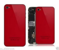 iPhone Backcover 4 in 5C Farben, inkl.Werkzeug,Rot, Deutscher Händler