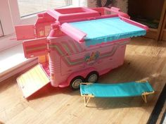 Barbie horse trailer - had this one!  Best Christmas present ever.