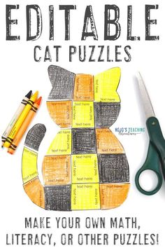 Make learning about cats fun with these great EDITABLE cat activities for kids. Click through to see how to use these for centers or review, and grab a FREE download. Great for your 1st, 2nd, 3rd, 4th, 5th, 6th, 7th, or 8th grade elementary or middle schoolstudents. Use them in October for Halloween or ANY time of year for #CatLovers. (first, second, third, fourth, fifth, sixth graders, Year 1, 2, 3, 4, 5, 6) #Elementary #MiddleSchool #HalloweenActivities Halloween Math, Halloween Activities, Activities For Kids, Grammar Activities, Math Literacy, 3rd Grade Classroom, Middle School Classroom, Math Drills, Cat Activity