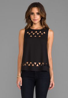 BB DAKOTA Davis Laser Cut CDC Tank in Black - New