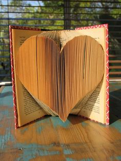 Folded Heart Book.